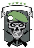 Military skull Stock Photography
