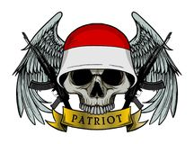 Military skull or patriot skull with INDONESIA flag Helmet Stock Image