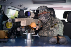 Military sniper Royalty Free Stock Photo