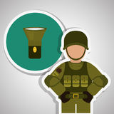 Military soldat design , vector illustration Royalty Free Stock Images