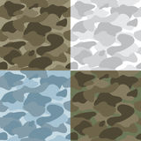 Military Soldier Camouflage Seamless Patterns Set stock illustration