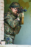 Military soldier with rifle Stock Photos