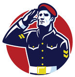 Military Soldier Salute. Vector of Military Soldier Salute Stock Image