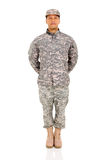 Military soldier standing Royalty Free Stock Image