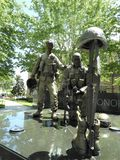 Statue of military soldiers in a park stock photography