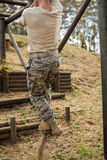 Military soldier training rope climbing Royalty Free Stock Photo