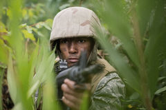 Free Military Soldiers During Training Exercise With Weapon Stock Photos - 89670843