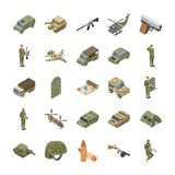Military Special Forces Army Icons vector illustration