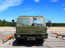 Military  special purpose towing vehicle Royalty Free Stock Images