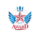 Military Star emblem, winged victory award symbol created using Royalty Free Stock Photos