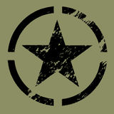 Military Star Symbol black stock illustration