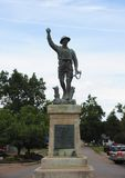 Military Statue in the Town Square of Phillips county, Helena Arkansas. Royalty Free Stock Photos