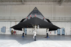 Military stealth airplane royalty free stock photography