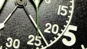 Military stopwatch clock face close up. stock video