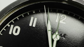 Military stopwatch clock face close up. stock video
