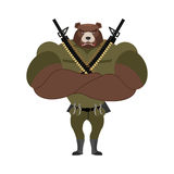 Military strong bear. Powerful big monster soldiers. Beast Troop Stock Photos