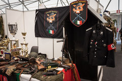 Military stuff at Militalia 2013 in Milan, Italy Royalty Free Stock Photography