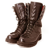 Military style boots Stock Photos
