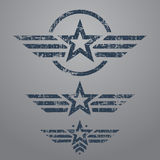 Military style emblem set Stock Photography