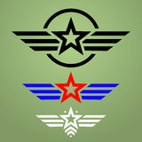 Military style emblem set vector illustration