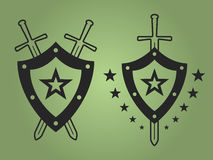 Military style emblems Royalty Free Stock Photography