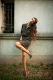 Military style fashion Stock Image