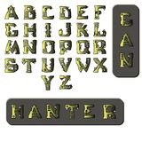Military style font stock illustration