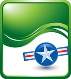 Military style glossy green template Stock Image