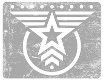 Military style grunge emblem Royalty Free Stock Image