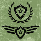 Military style grunge emblems Royalty Free Stock Image