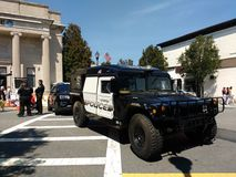 Military Style HV-1 Hummer, Rutherford Police Emergency Vehicle Royalty Free Stock Photos