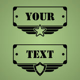 Military style tags Royalty Free Stock Photography