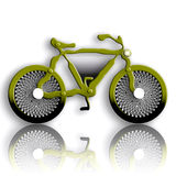 Military Styled Bicycle. Over White Background Royalty Free Stock Photography