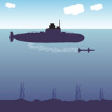 Military submarine Stock Photography