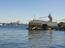 Military submarine, Moscow Royalty Free Stock Photography