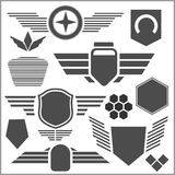 Military symbol icons - vector set Royalty Free Stock Photos