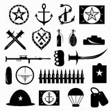 Military symbols vector illustration Royalty Free Stock Image