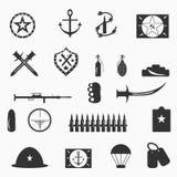 Military symbols vector illustration Royalty Free Stock Photo