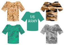 Military T-shirts Stock Images