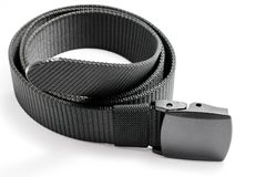 Military tactical belt. With semi-automatic buckle for connection. Isolated on white background royalty free stock photo