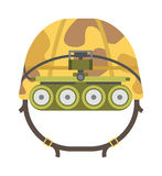 Military tactical helmet of rapid reaction army and police symbol defense vector illustration. Stock Photo