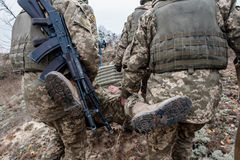 Military and tactical medical training Stock Images