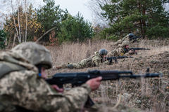 Military and tactical medical training. November 5, 2016. Zhytomyr region, Ukraine. Military and tactical medical training of Marusin Bears (Paratrooper special Stock Photography