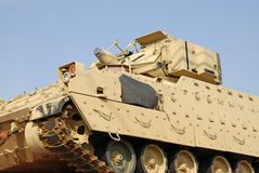 Military Tank. A military tank being shipped by freight train Royalty Free Stock Photography