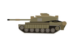 Military Tank . Armoured Fighting Vehicle. Military tank  on white. Armoured fighting vehicle designed for front-line combat, with heavy firepower, strong armour Royalty Free Stock Photography
