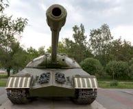 A military tank. Caterpillar of a military tank black close-up Stock Photo
