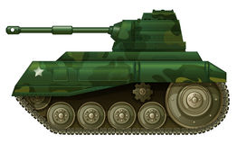 A military tank. Illustration of a military tank on a white background Royalty Free Stock Images