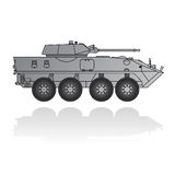 Military tank isolated vector Stock Image