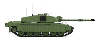 Military Tank Isolated. On white background. 3D render Royalty Free Stock Photo
