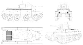 Military Tank Isolated On White Vector Stock Image